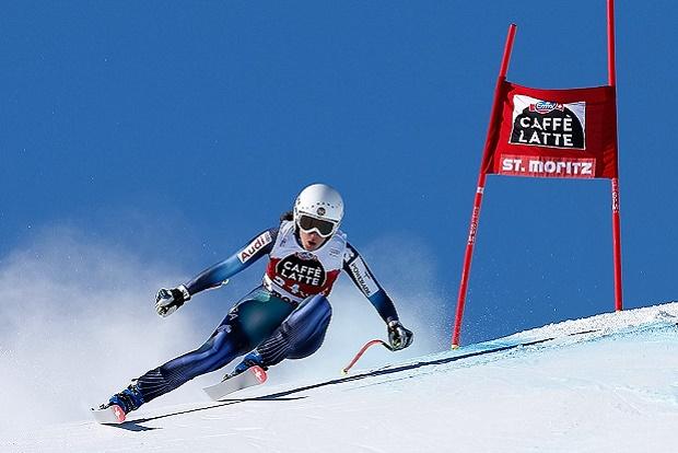 Carolina Ruiz en su etapa de corredora de la estructura de esquí alpino de la RFEDI. Alain Grosclaude/Ag Zoom Photo