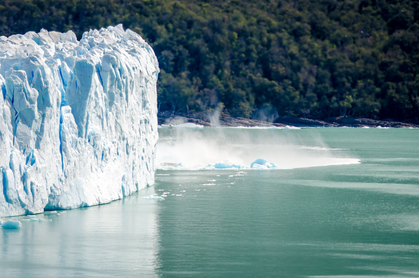 desplome en el glaciar