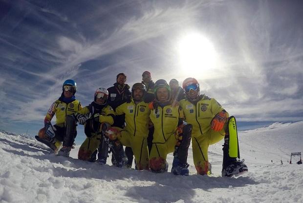 Equipo de esquí alpino de la RFEDI: Olmo Hernán, Albert Ortega, Alex Puente, Angel Calero, Joaquim Salarich, Aingeru Garai, Guille Gallego, Juan del Campo y May Peus. Photo: RFEDI