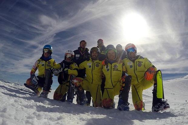 Izda-drcha; A- Ortega, A. Puente, J. Salarich, A. Garai, J. del Campo. RFEDI Alpine Team