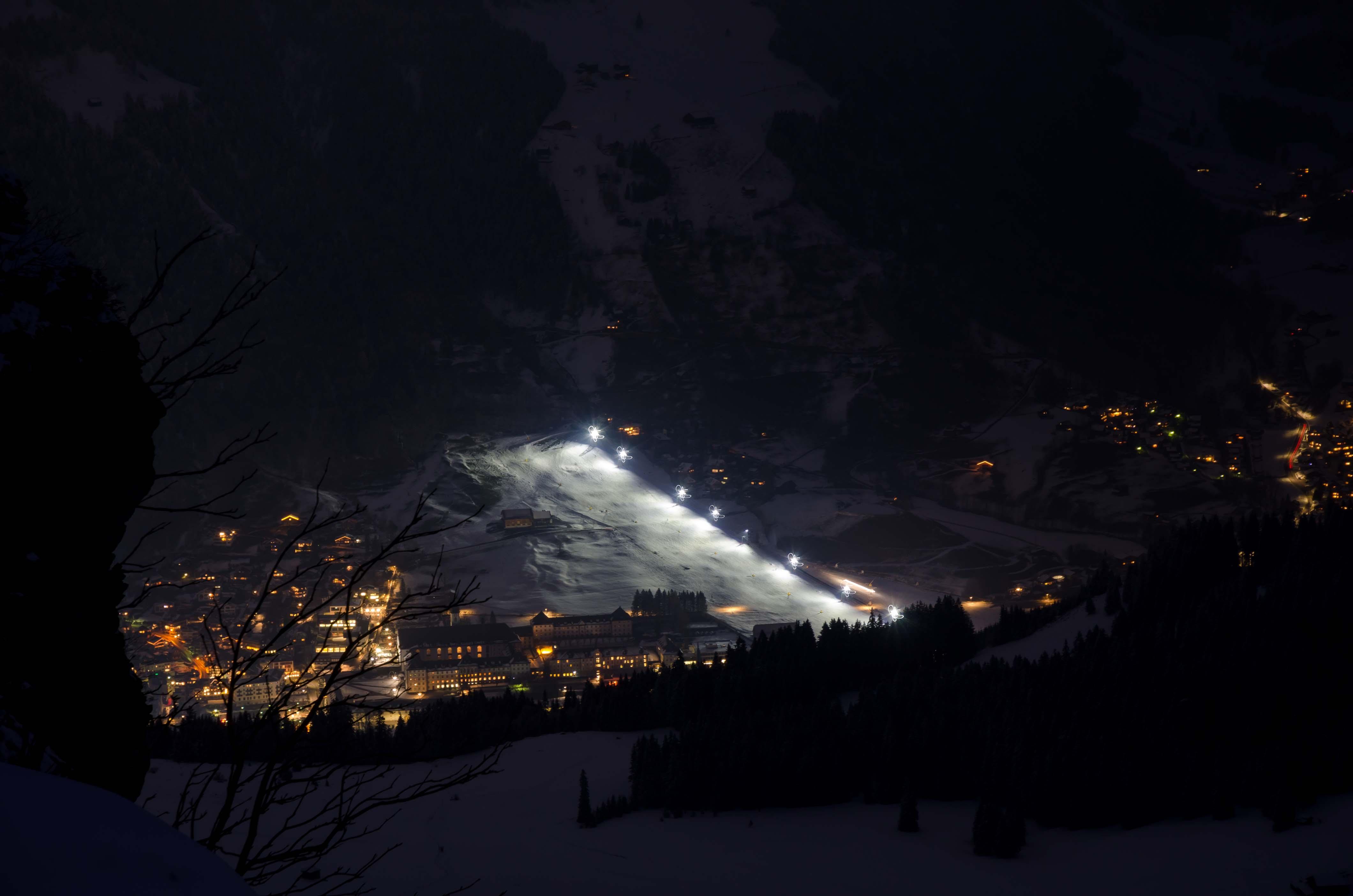 esqui nocturno Engelberg