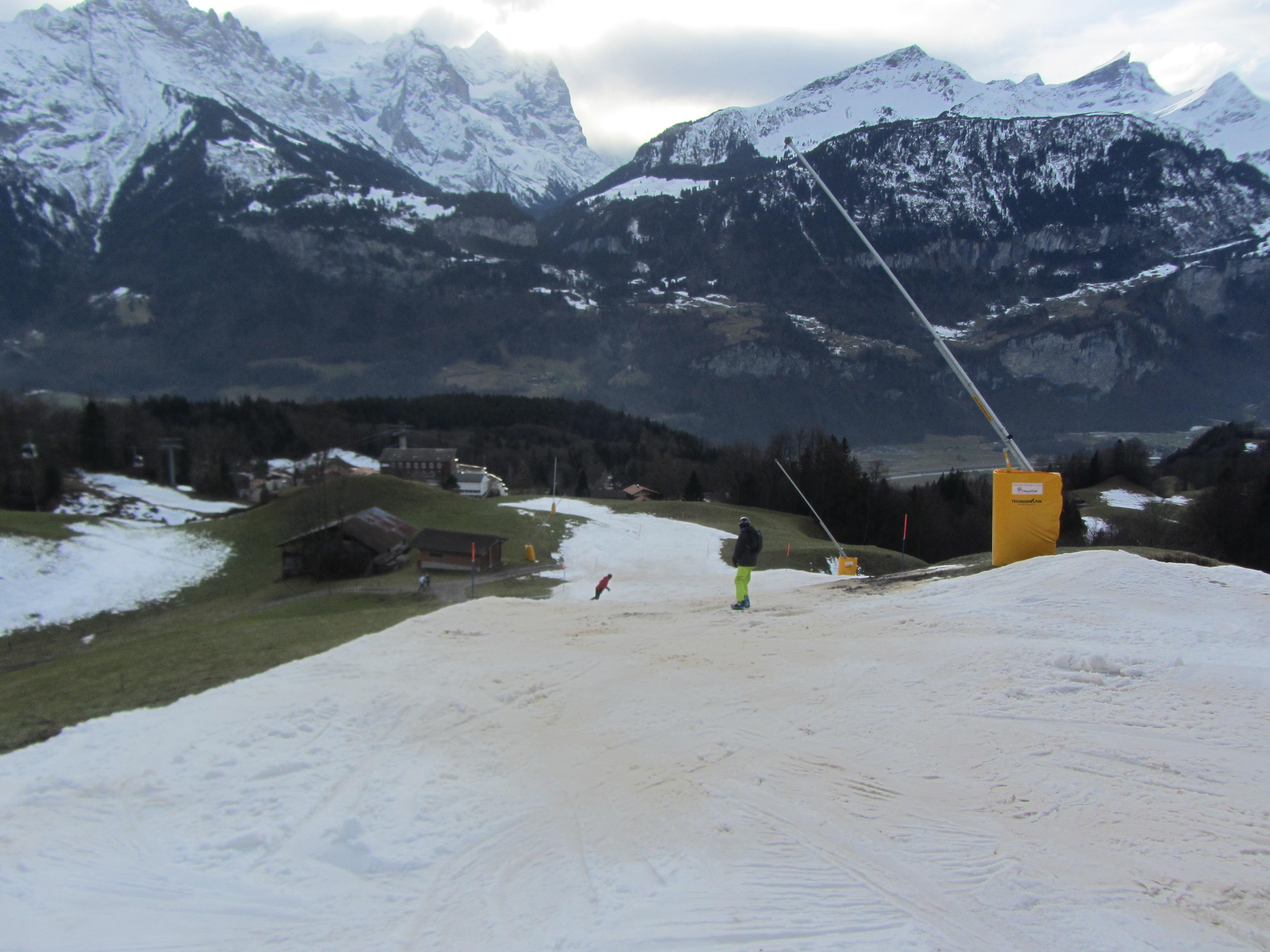 nieve artifical en pista