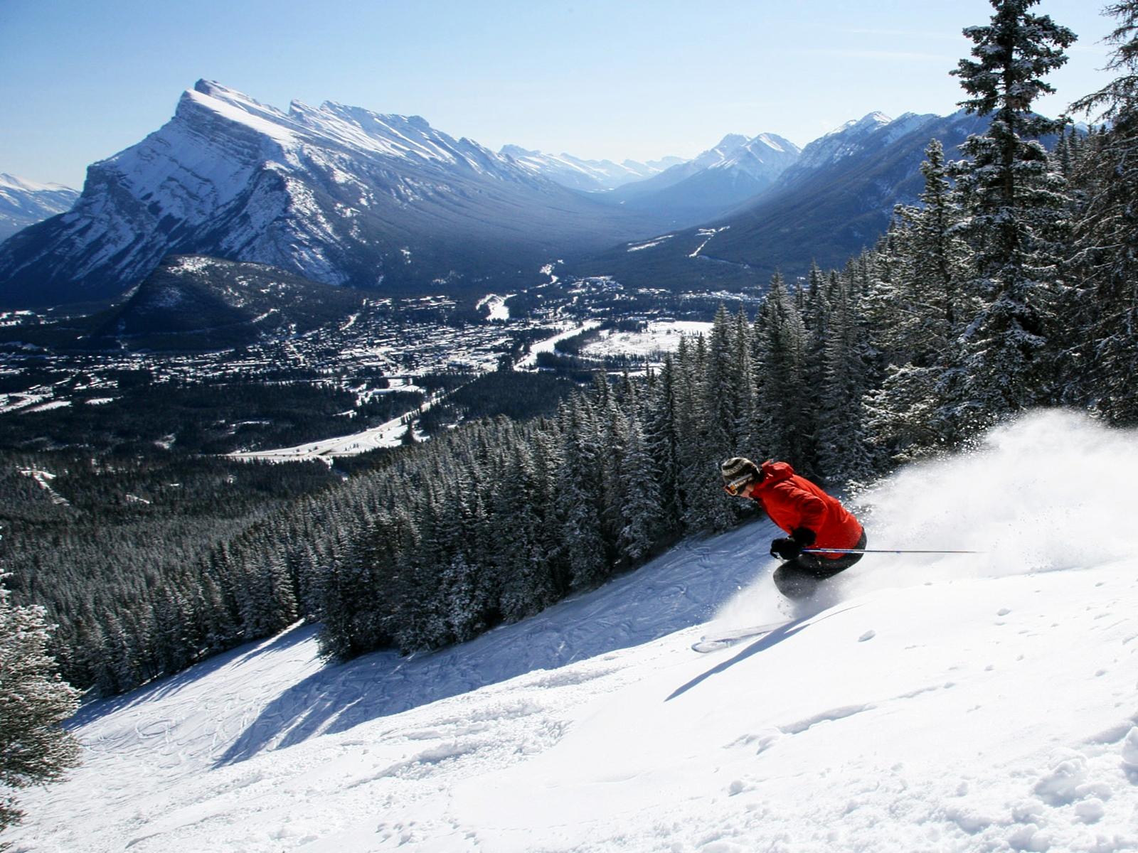 Powder en Sunshine Village, Banff