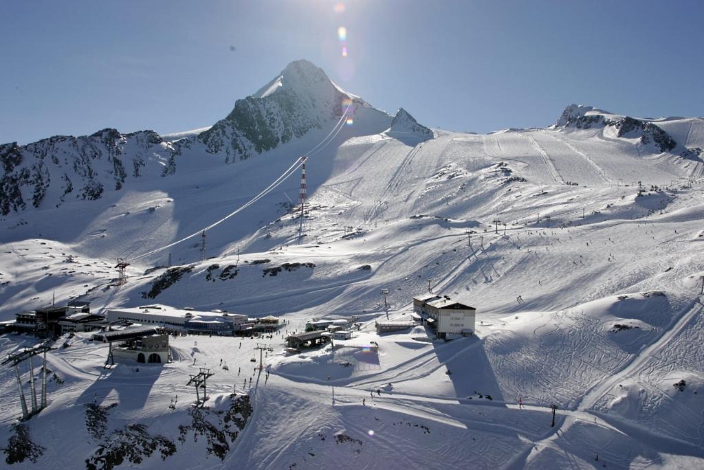 Aspecto magnífico de la zona del glaciar de Kitzsteinhorn