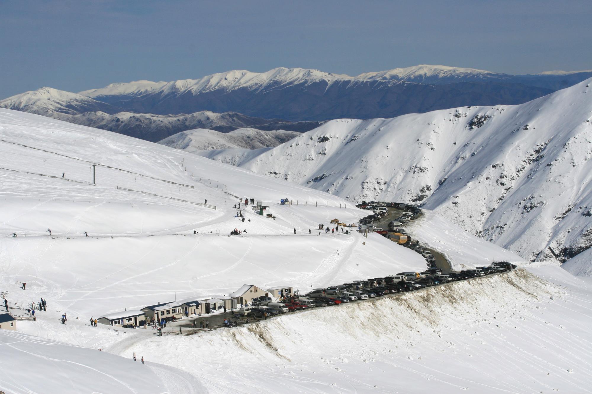Mount Dobson ski resort, South Island, New Zealand