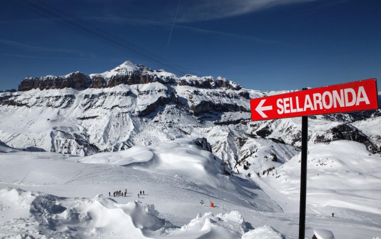 Imagen de los Dolomitas y la famoso circuito de Sella Ronda