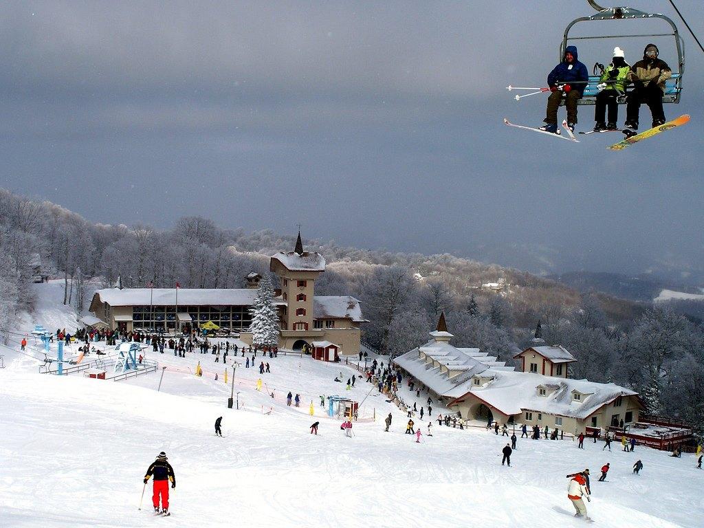 Esquiando en Beech Mountain