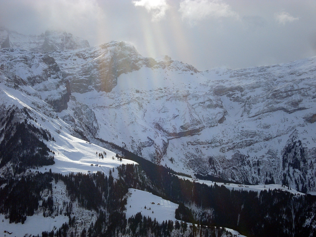 Paisaje nevado en Biel-Kinzig