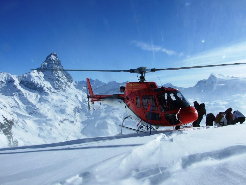 Italia, Valle de Aosta, Cervinia (Cervinia-Zermatt), Heliskí
