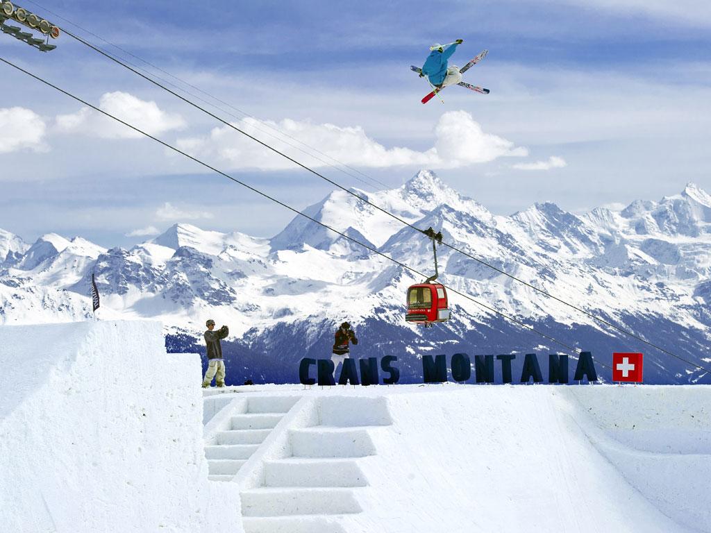 Saltando en Crans Montana
