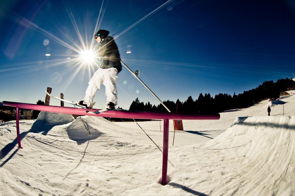 Freestyle en el park de Font-Romeu