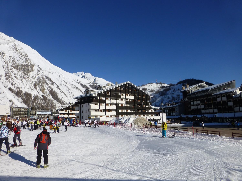 Esquiando en La Thuile