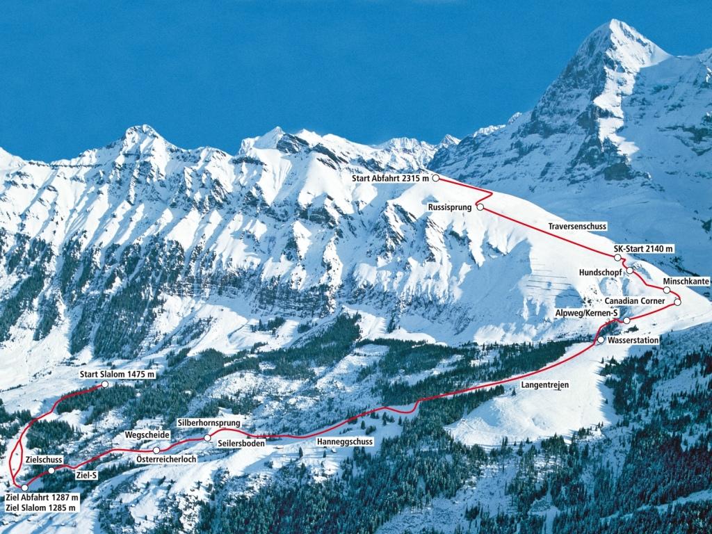 la competición de esquí Lauberhorn