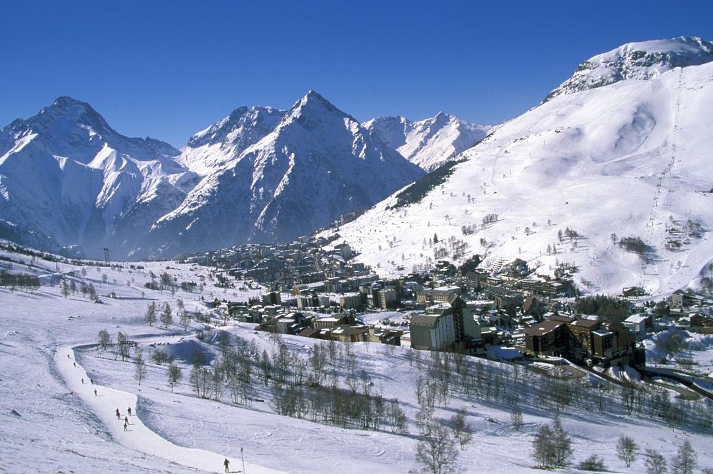 Imagen de la estación francesa de les 2 Alpes en el departamento de Isere