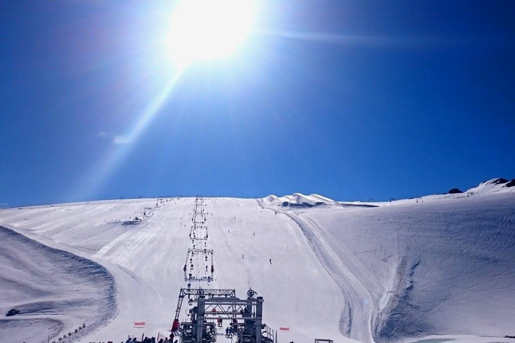 Les 2 Alpes, fotografía del glaciar el 27 de junio de 2016