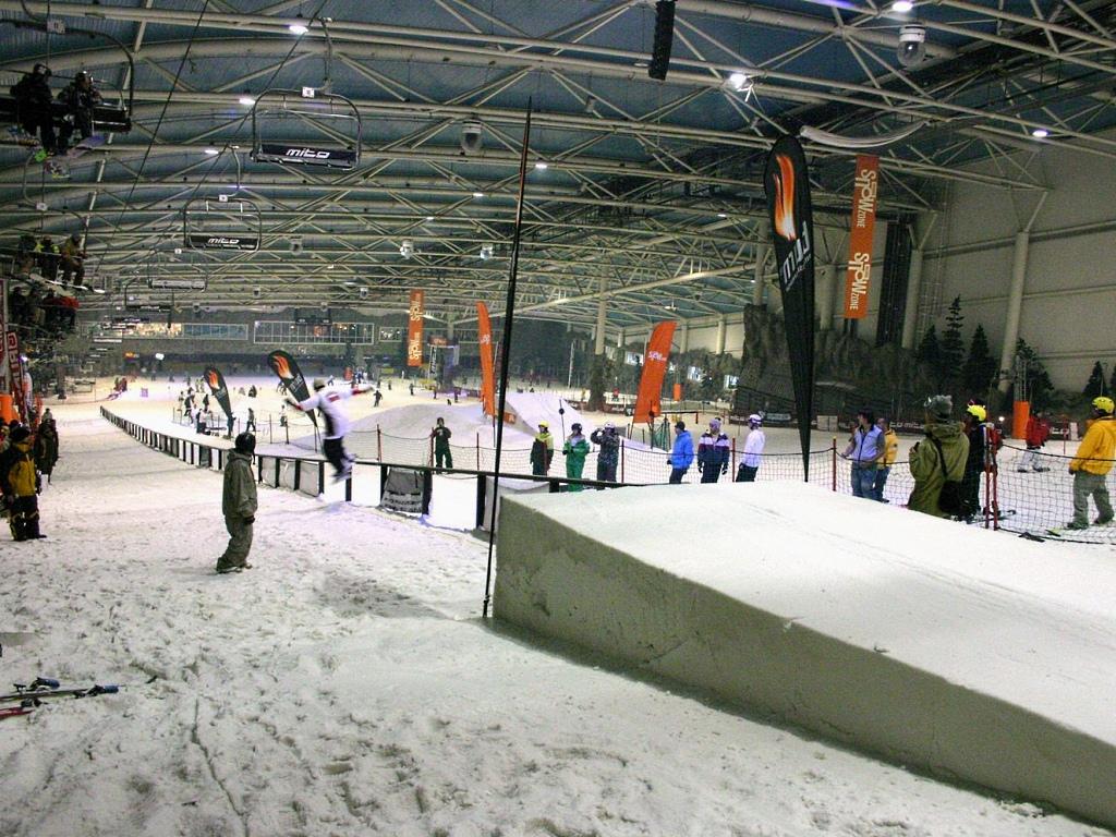 Imagen de la pista indoor de Madrid Snowzone