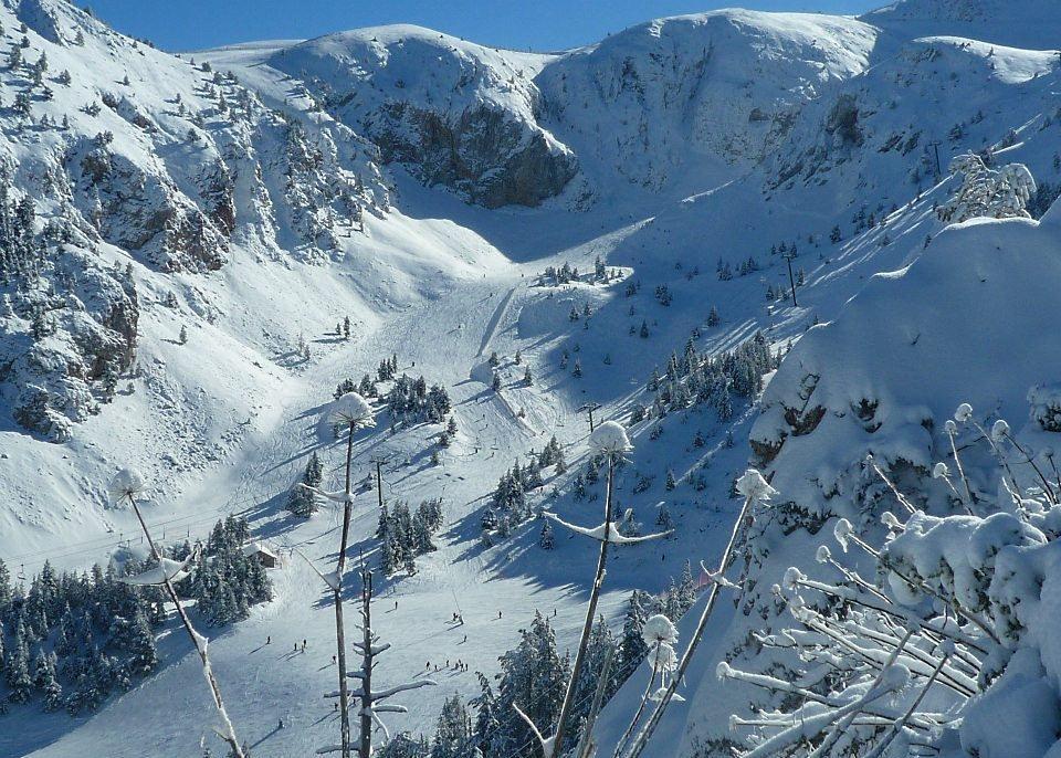 Vista de la zona Coma Pregona después de la nevada del 20 de enero del 2013