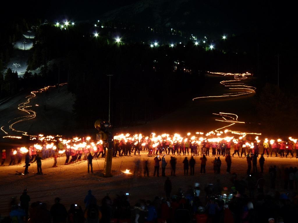 Imagen de Masella el día de la inauguración del esquí nocturno
