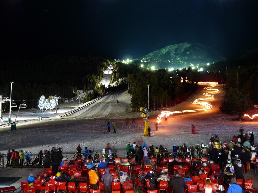 Masella en el día de la inauguración del esquí nocturno