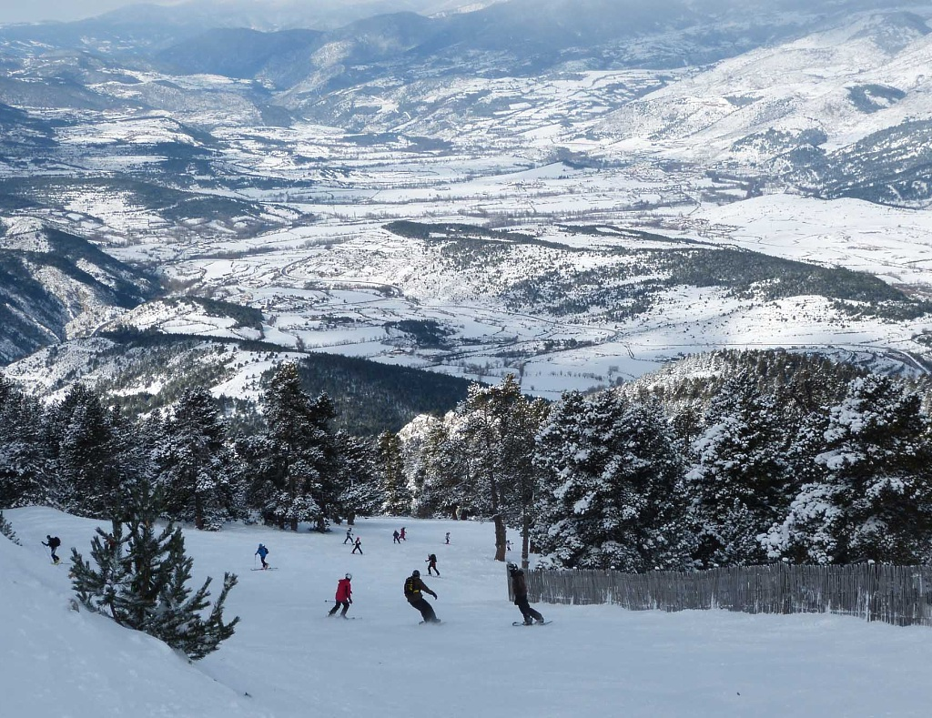 Estación esquí Masella, vista al valle de la Cerdaña