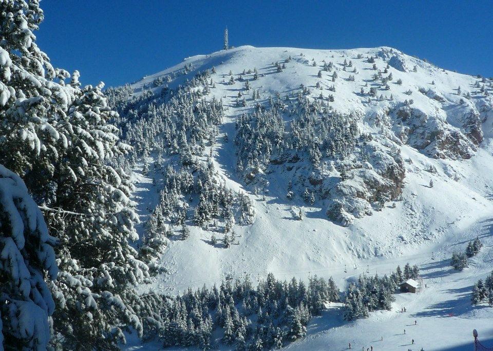 Vista de la Tossa desde Coma Oriola después de la nevada del 20 de enero del 2013