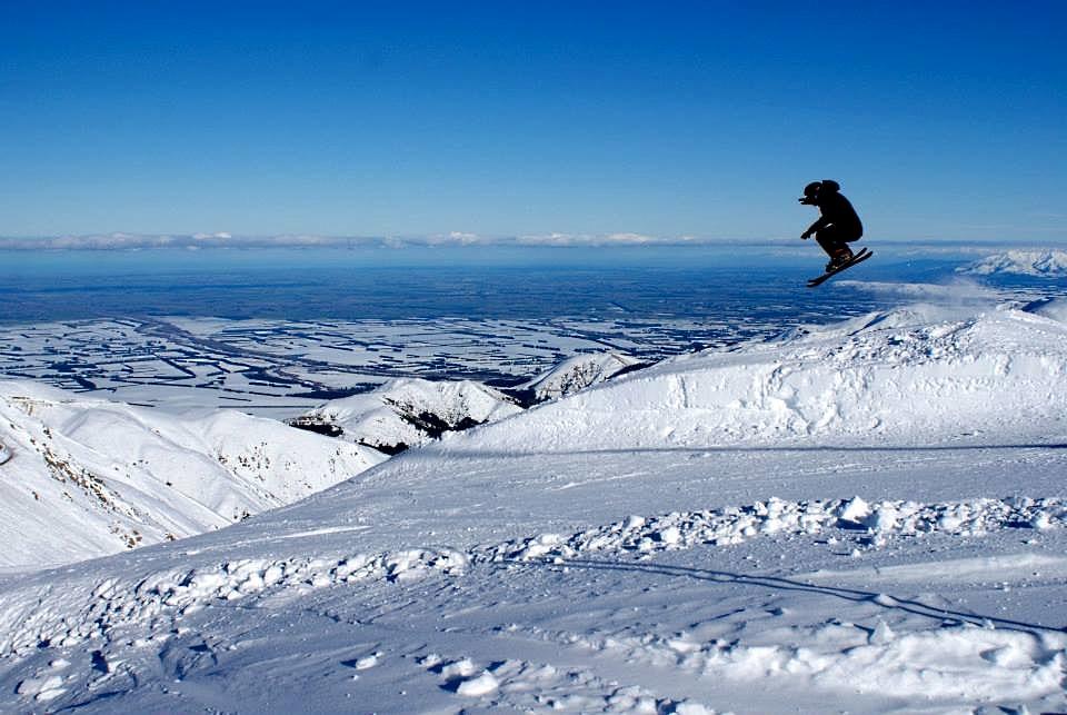Así luce el Mt. Hutt este principio de temporada en Nueva Zelanda