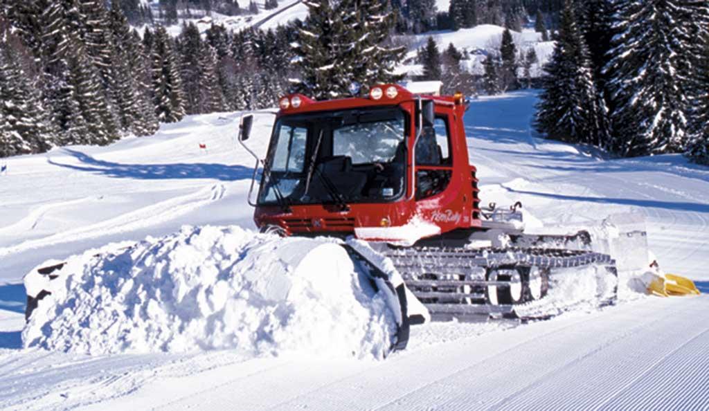 Trabajando la nieve en Oberegg
