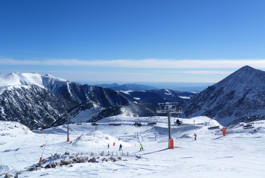 Bonita imagen de la estación de esquí de Vallter 2000