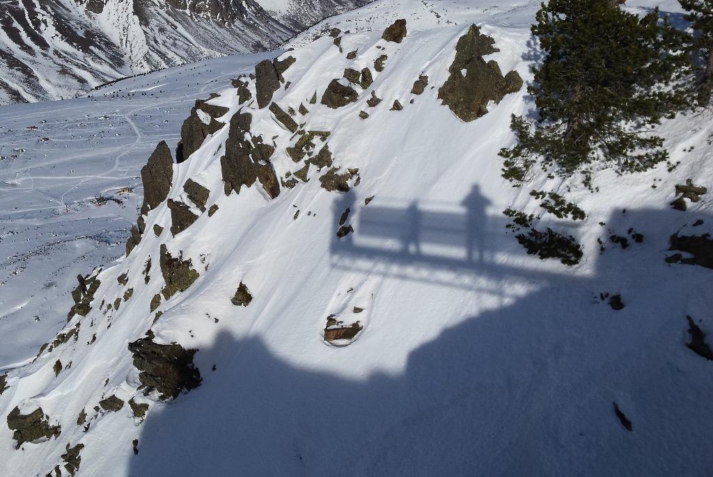 Imagen  de la sombra del mirador de la Fontfrède en Porté