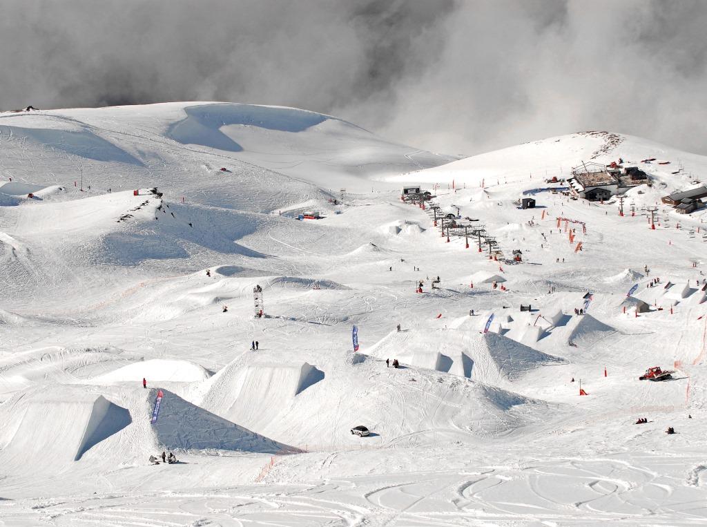 Imagen del Snowpark Sulayr en Sierra Nevada
