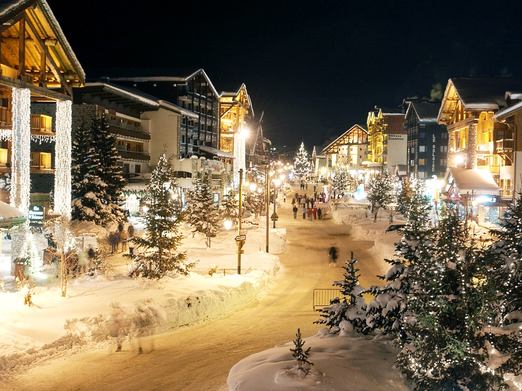 Val d'Isere nocturna