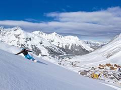 Kühtai freerider-snowboard