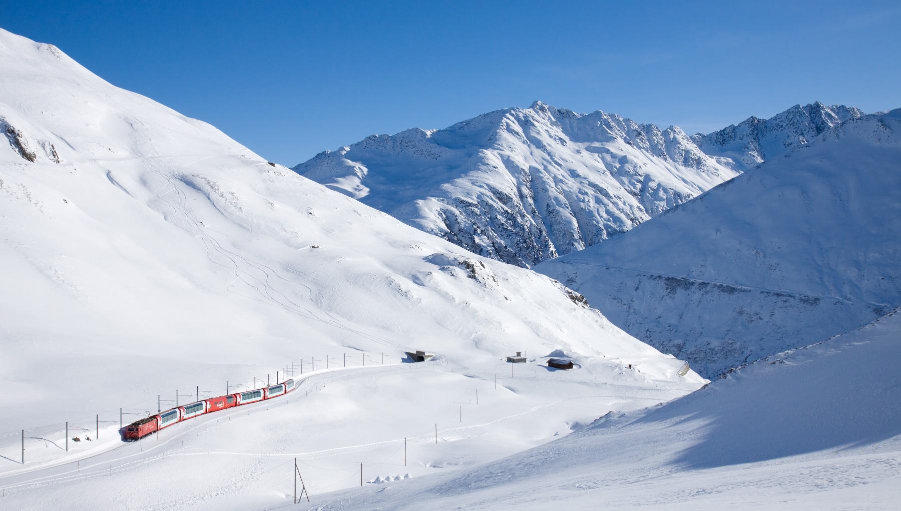 El Glacier Express de Kurz a Oberalp