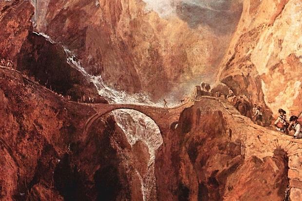 El Puente del Diablo o Teufelsbrücke y la Garganta de Schöllenenen. Joseph Mallord William Turner 1775/1851