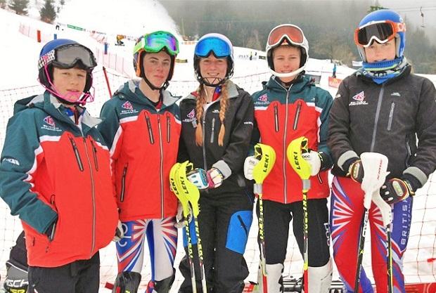 Miembros del Equipo de Esquí alpino de Gran Bretaña