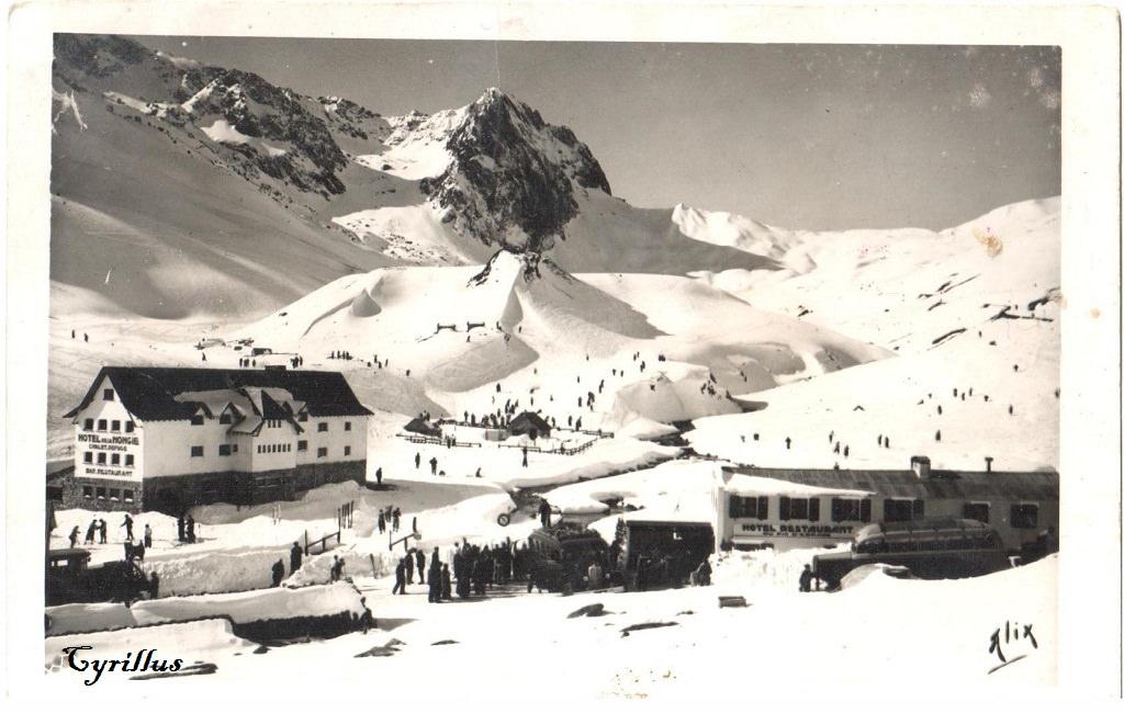 El Hotel la Mongie en 1941. Foto Alix. Clic para ampliar