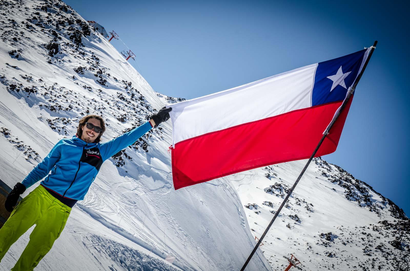 yo con la bandera de Chile