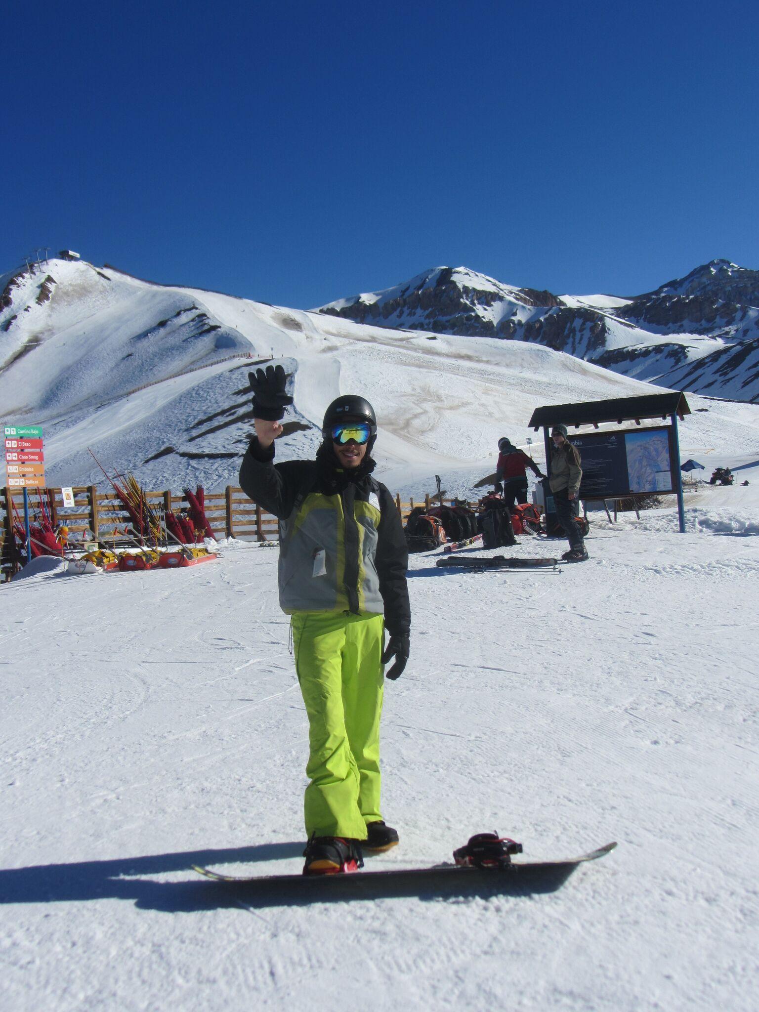 yo en Valle nevado