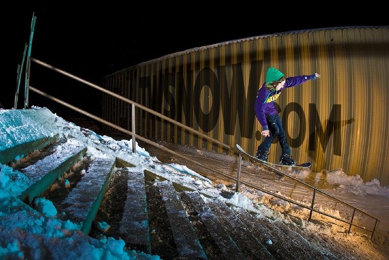snowboard en barandillas
