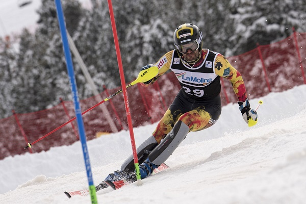 Joaquim Salarich en la Molina. Oriol Molas/RFEDI Photo
