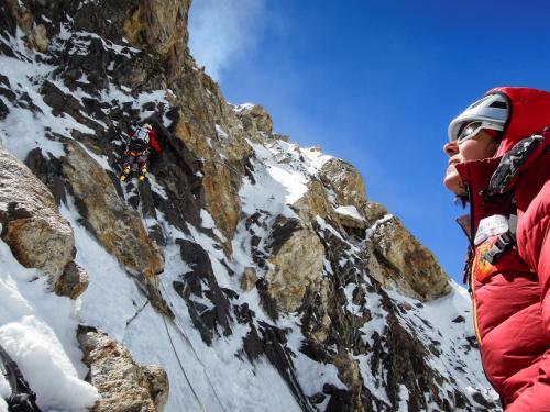 Kaltenbrunner, en el pilar norte del K2 (Pakistán/China) en agosto de 2011. ©Ralf Oujmovits