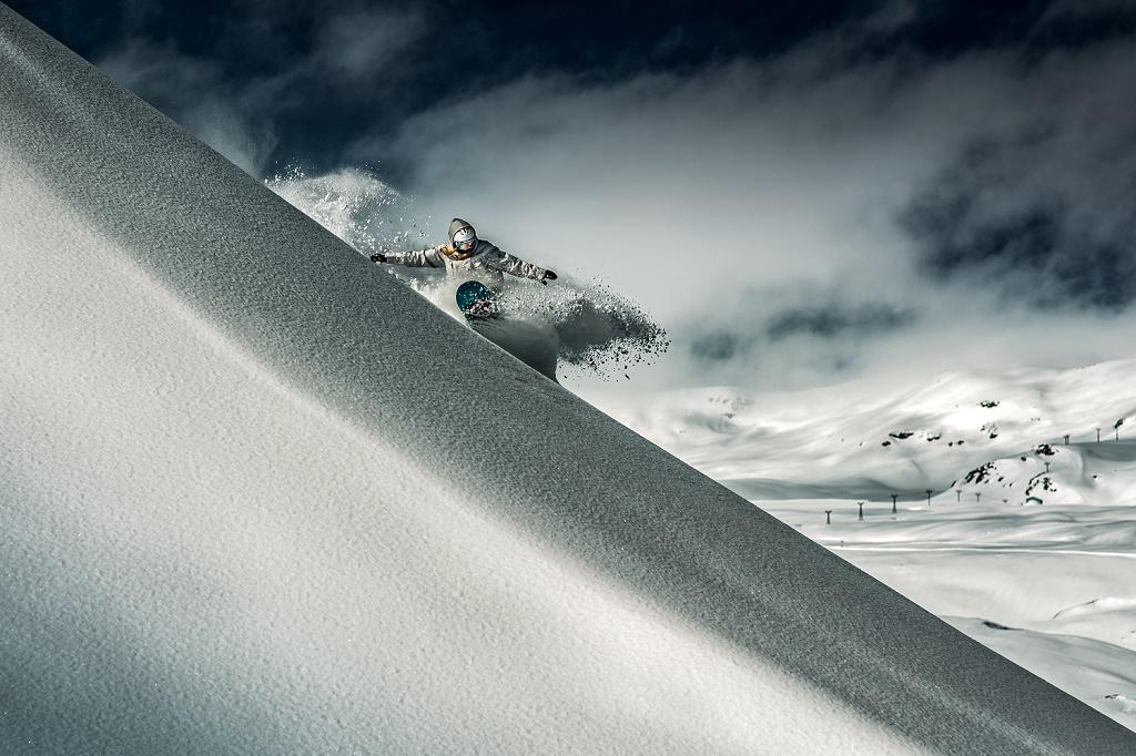 Laax, Suiza. Un paraíso de nieve.  Snowboard el Laax, en los Grisones