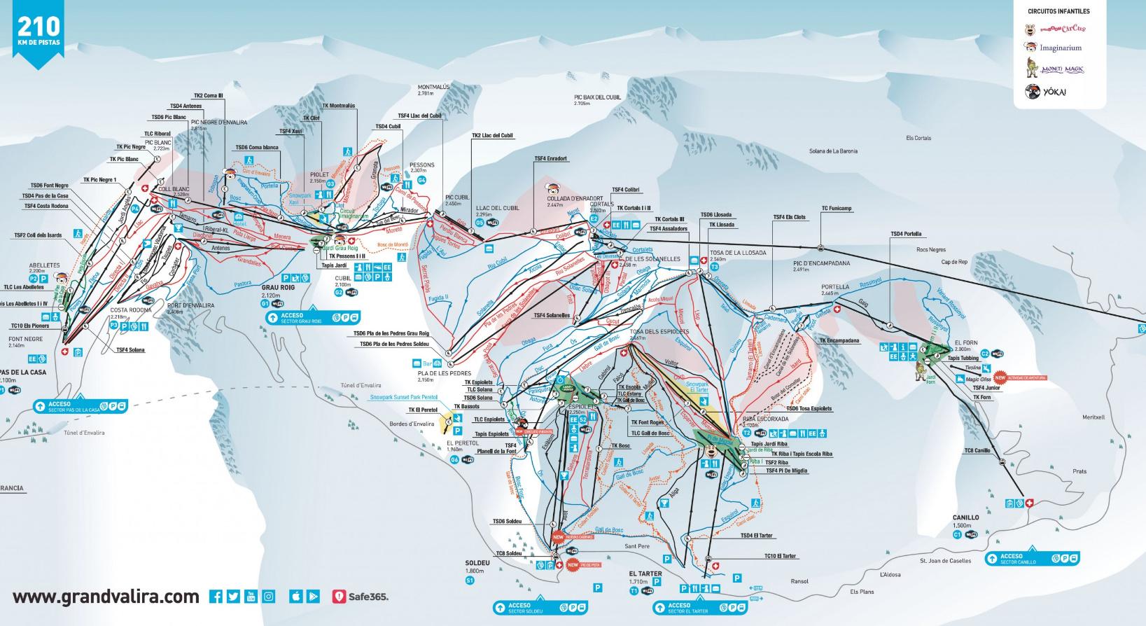 Mapa Estaciones Esqui España.Grandvalira Y Baqueira Las Mejor Situadas En La Guia De Las