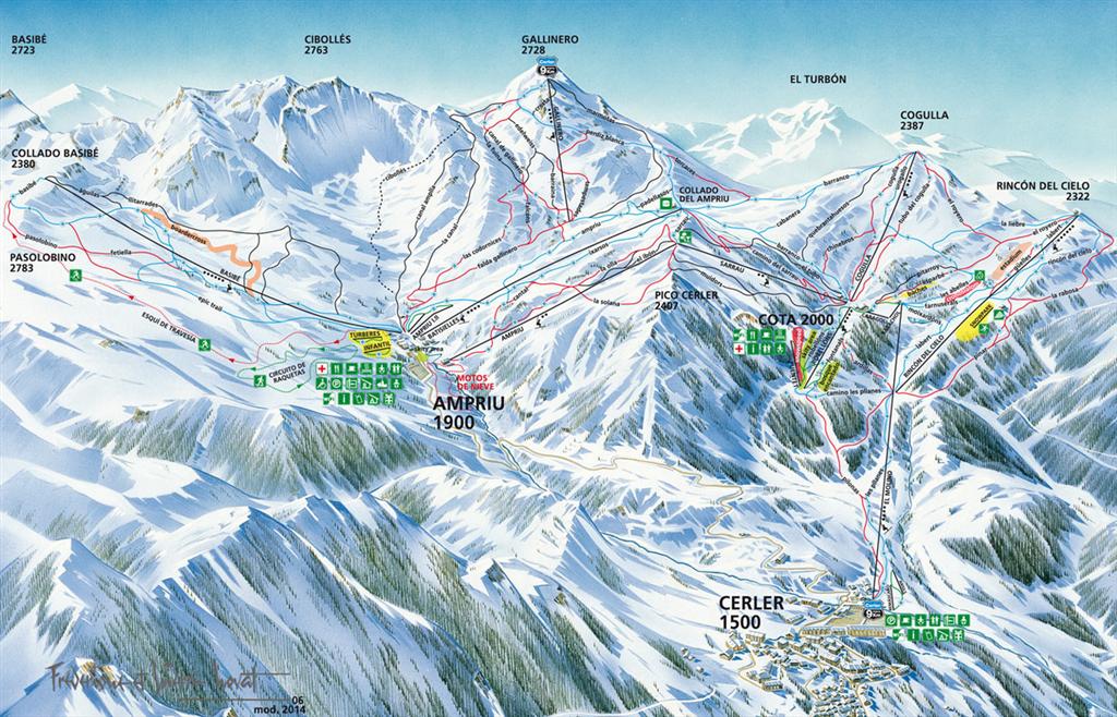 mapa de pistas de Cerler