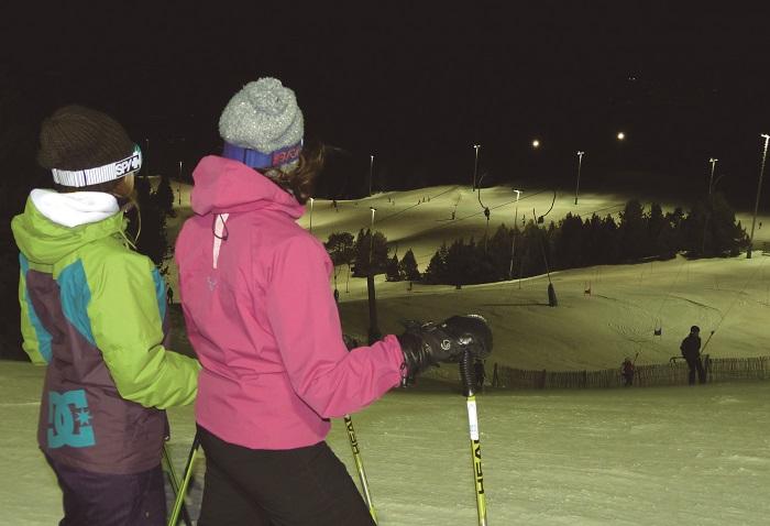 Esquí nocturno en Masella. Atudem/Esquí España