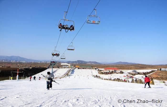 Nanshan Ski Resort es una estación muy cercana a Pekín. Foto: Chen Zhao