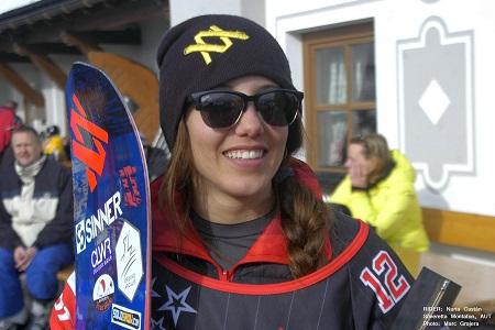Nuria Castán en Montafon (Austria). Foto: Marc Grajera