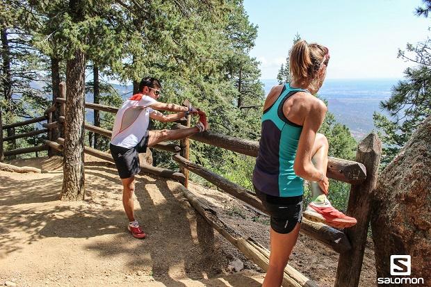Laura Orgué y Jan Marguerit en la Pikes Peak Ascent de Colorado. Foto: Martina Valmassoi Salomon Running