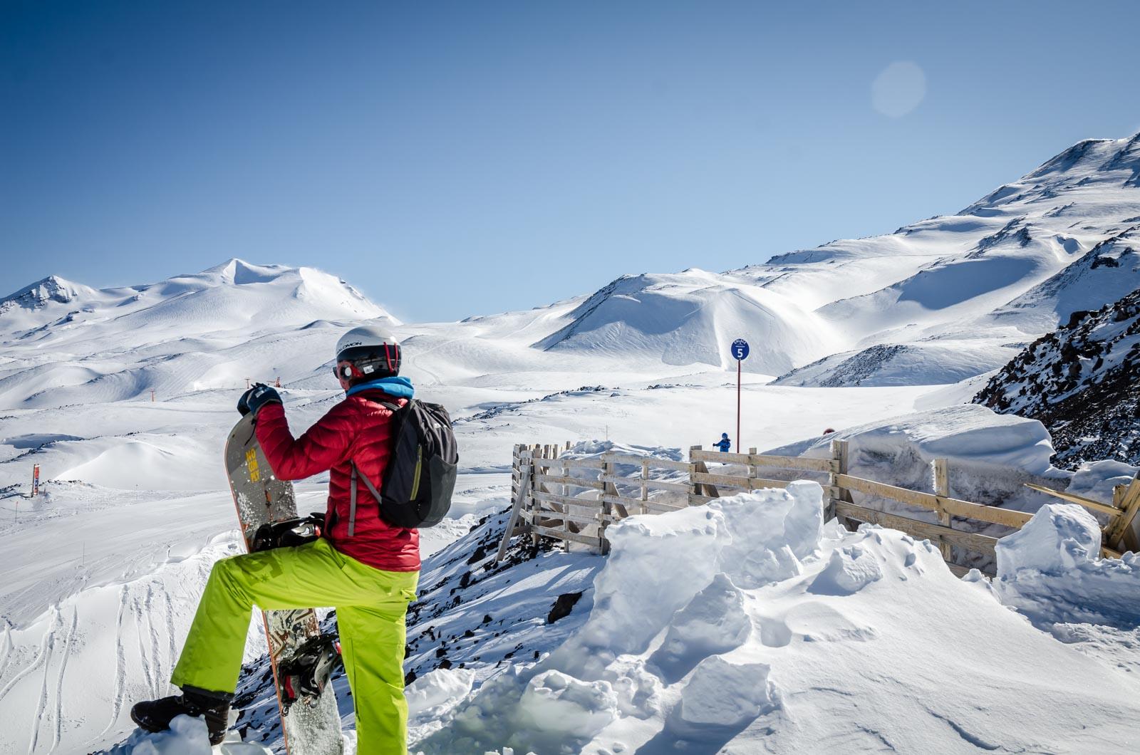 mucha nieve en Chillán
