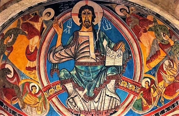 Pantócrator de Sant Climent de Taüll, una joya del Románico Patrimonio de la Humanidad de la Unesco